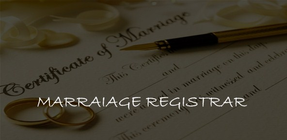 MARRIAGE REGISTRAR